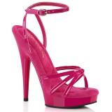 Pink lak sandaler 15 cm SULTRY-638 plateau sandaler høje hæle