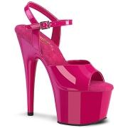 Pink plateau 18 cm ADORE-709 pleaser høje hæle