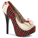 Plaid Pattern 14,5 cm Burlesque TEEZE-26 Womens Shoes with High Heels