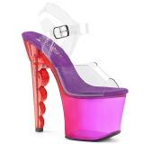 Purple 18 cm SCALLOP-708MCT Platform High Heels Shoes