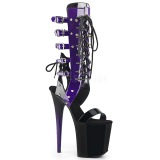Purple 20 cm FLAMINGO-800-38 knee high womens gladiator sandals