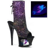 Purple glitter 18 cm MOON-1018MER Pole dancing ankle boots