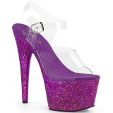 Purple glitter 18 cm Pleaser ADORE-708LG Pole dancing high heels shoes