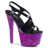 Purple glitter 18 cm Pleaser SKY-330LG Pole dancing high heels shoes