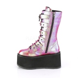 Rainbow 9 cm DAMNED-225 womens buckle boots with platform