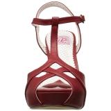 Red 11,5 cm retro vintage BETTIE-23 High Heeled Evening Sandals