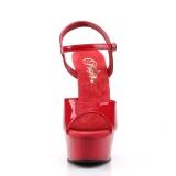 Red 15 cm DELIGHT-609 platform pleaser high heels shoes