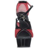Red 15 cm Pleaser DELIGHT-652 Womens High Heel Sandals