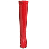 Red Patent 13 cm Pleaser SEDUCE-2000 Women Knee Boots