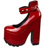 Red Patent 16 cm CRAMPS-03 Goth Pumps Shoes