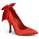 Red Satin 12 cm BOMBSHELL-03 Women Pumps Shoes Flat Heels