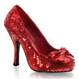 Red Sequins 11,5 cm OZ-06 High Heeled Evening Pumps Shoes