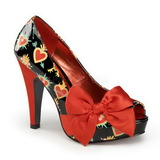Red Shiny 11,5 cm BETTIE-13 Platform Pumps Open Toe