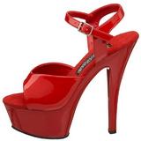 Red Shiny 15 cm FUNTASMA JULIET-209 High Heels Platform