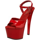 Red Shiny 18 cm Pleaser SKY-309 High Heels Platform