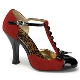 Red Suede 10 cm SMITTEN-10 Women Pumps Shoes Flat Heels