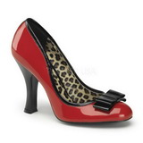 Red Varnished 10 cm SMITTEN-01 Women Pumps Shoes Flat Heels