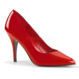 Red Varnished 10 cm VANITY-420 Women Pumps Shoes Flat Heels