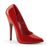 Red Varnished 15 cm DOMINA-420 Women Pumps Shoes Stiletto Heels
