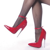 Red Varnished 15 cm SCREAM-12 Women Pumps Shoes Stiletto Heels
