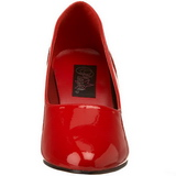 Red Varnished 8 cm DIVINE-420W Pumps with low heels