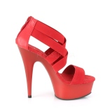 Red elasticated band 15 cm DELIGHT-669 pleaser womens shoes