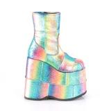 Regnbue Glitter 18 cm STACK-201 Plateau Ankelstøvler til Mænd