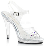 Rhinestones 11,5 cm FLAIR-408SD transvestite shoes