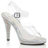 Rhinestones 12 cm FLAIR-408DM High Heeled Evening Sandals