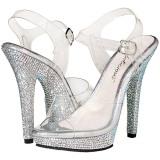 Rhinestones 13 cm LIP-108DM Womens Shoes with High Heels