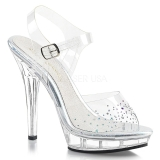 Rhinestones 13 cm LIP-108SD high heeled sandals