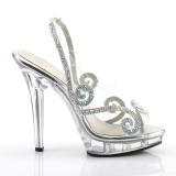 Rhinestones 13 cm LIP-149 high heeled sandals