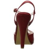 Rød 11,5 cm retro vintage BETTIE-23 Høje Fest Sandaler med Hæl