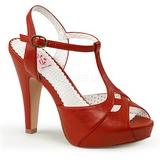 Rød 11,5 cm retro vintage BETTIE-23 højhælede sandaler til kvinder