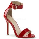 Rød 13 cm AMUSE-10 højhælede sko til mænd