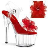 Rød 18 cm ADORE-708BFL pleaser sandaler med plateau