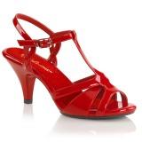 Rød 8 cm BELLE-322 højhælede sko til mænd