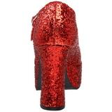 Rød Glitter 11 cm MARYJANE-50G Mary Jane Pumps Plateau
