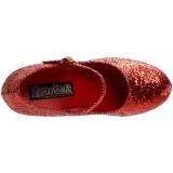 Rød Glitter 7,5 cm GLINDA-50G Mary Jane Pumps