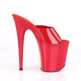 Rød Jelly-Like 20 cm FLAMINGO-801N højhælede mules - pole dance mules