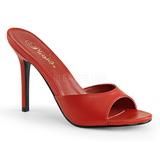 Rød Kunstlæder 10 cm CLASSIQUE-01 store størrelser mules dame