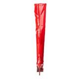 Rød Lak 13,5 cm INDULGE-3000 Plateau Overknee Støvler