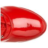 Rød Lak 13 cm ELECTRA-2020 Plateaustøvler til kvinder