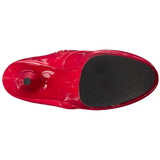 Rød Lak 15,5 cm DELIGHT-1020 Plateau Ankelstøvler
