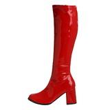 Rød Lak 8,5 cm Funtasma GOGO-300 Dame Støvler