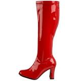 Rød Lak 9,5 cm FUNTASMA KIKI-350 Dame Støvler