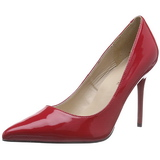 Rød Lakeret 10 cm CLASSIQUE-20 Dame Pumps Stilethæle Sko