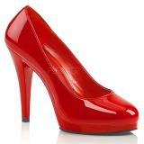 Rød Lakeret 11,5 cm FLAIR-480 dame pumps til mænd