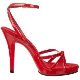 Rød Lakeret 12 cm FLAIR-436 High Heels Sko til Mænd