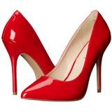 Rød Lakeret 13 cm AMUSE-20 spidse pumps med stiletter hæle